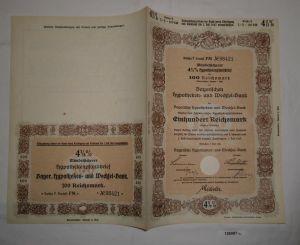 100 RM Pfandbrief Bayerische Hypotheken- und Wechsel-Bank München 1940 (126987)