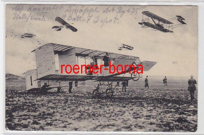 83761 Feldpost Ak Magdeburg Flugtag ? verschiedene Flugzeuge 1915