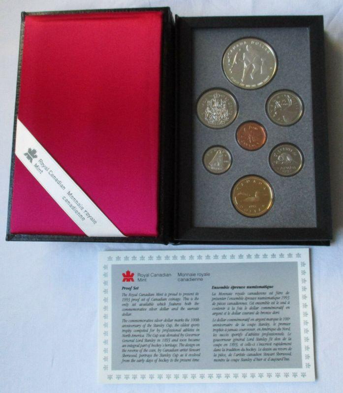 Kursmünzensatz KMS Kanada 1993 Stanley Cup + Zertifikat + Etui (129781)