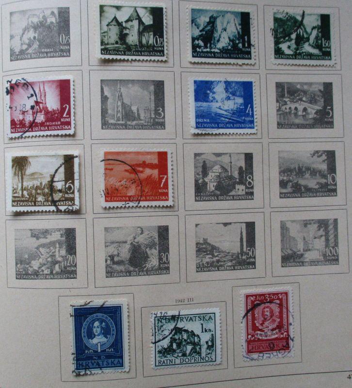 Kleine Briefmarkensammlung Kroatien Croatia Croatie ab 1941 (129263)