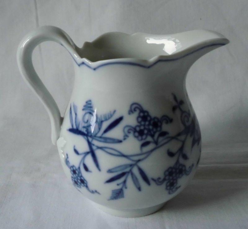Meissen Porzellan Zwiebelmuster hübsches, kleines Kännchen Milchkanne (117666)
