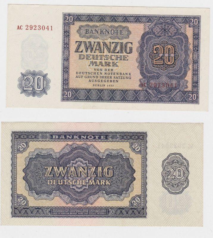 20 Mark Banknote DDR Deutsche Notenbank 1955 kassenfrisch (129440)