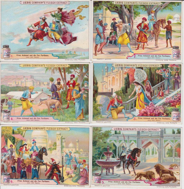 Liebigbilder Serie Nr. 507 Prinz Achmed und die Fee Paribanu 1901 (4/128895)