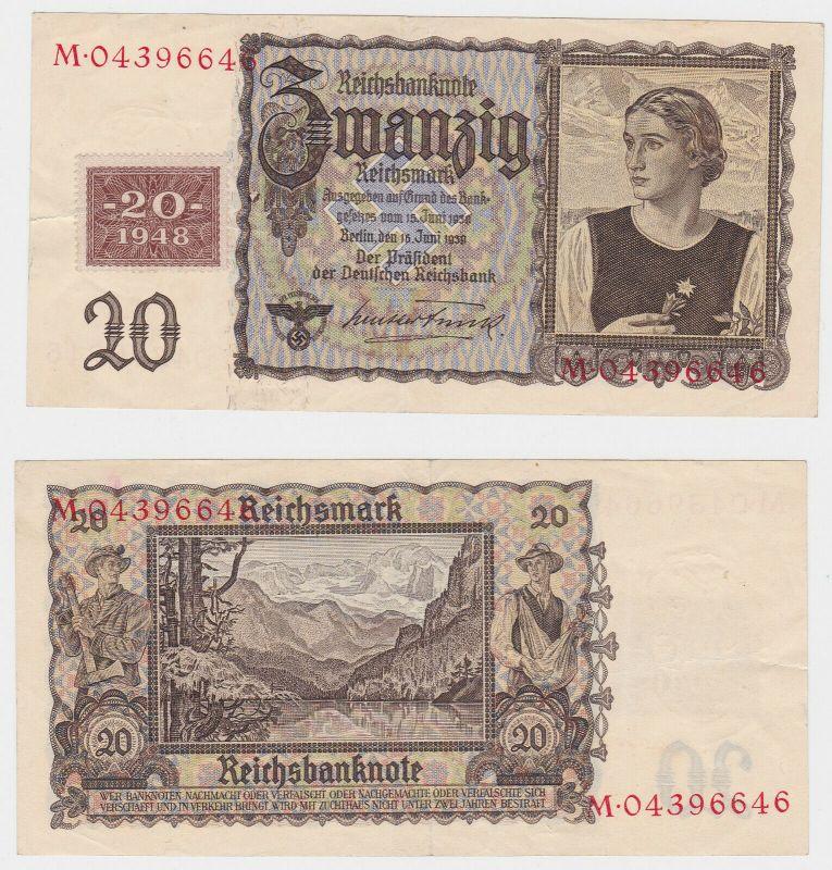 20 Mark Banknote DDR Deutsche Notenbank 1948 Kuponausgabe (130246)