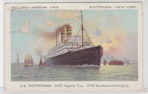 71804 AK Holland-Amerika Linie Rotterdam-New York, D.D. Rotterdam 1921