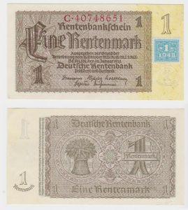 1 Mark Banknote DDR Deutsche Notenbank 1948 Kuponausgabe (130708)