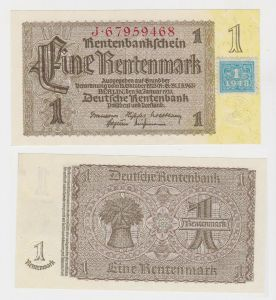 1 Mark Banknote DDR Deutsche Notenbank 1948 Kuponausgabe (130643)