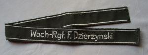 DDR Ärmelband für Uniform -Jacke STASI Wachregiment Felix Dzierzynski (108002)