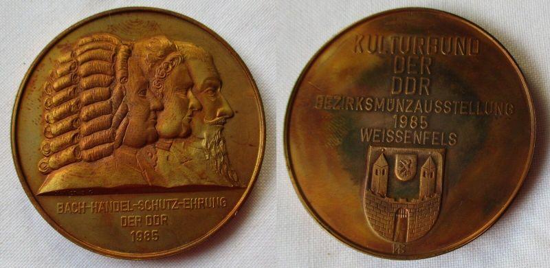 Medaille Kulturbund der DDR Bezirksmünzausstellung 1985 Weissenfels (100005)