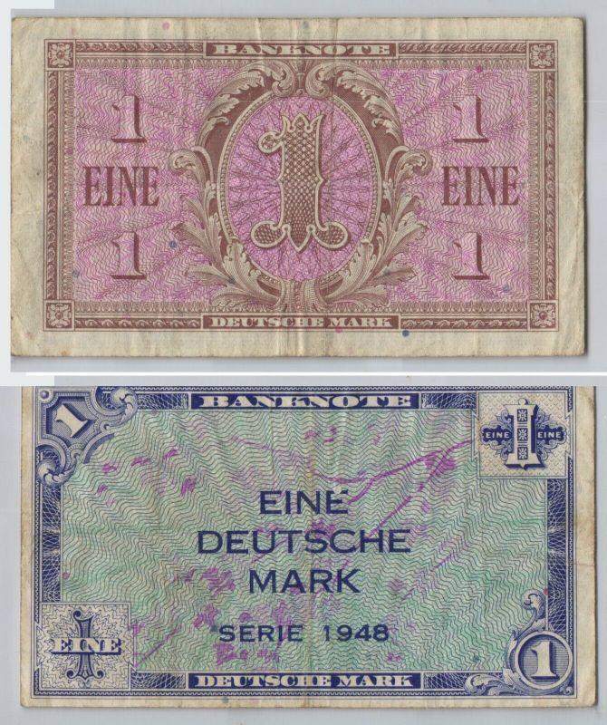 1 Deutsche Mark Banknote BRD 1948 Rosenberg 232 (129755)