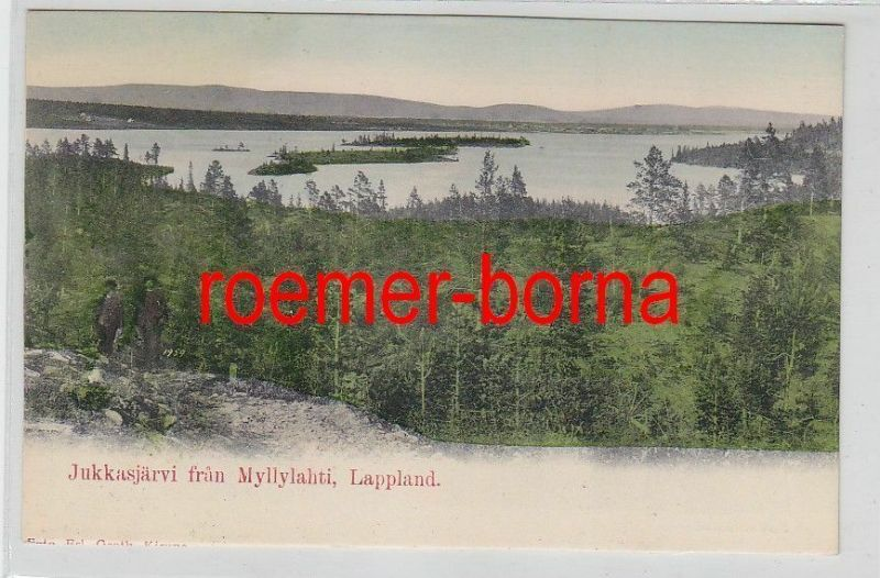 78236 Ak Lappland Jukkasjärvi fran Myllylahti um 1900