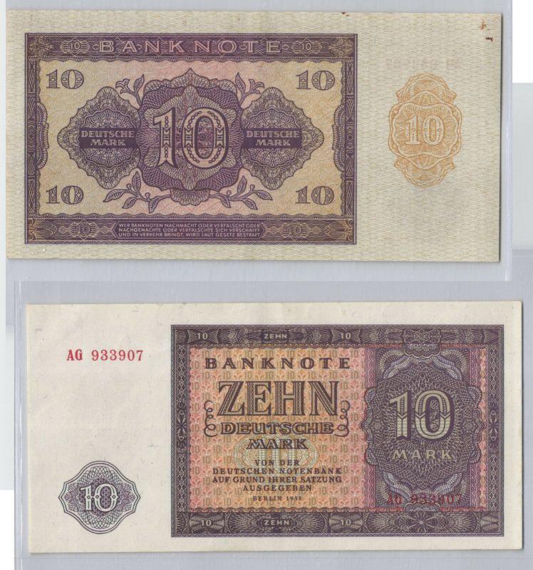10 Mark Banknote DDR Deutsche Notenbank 1955 fast kassenfrisch (129688)