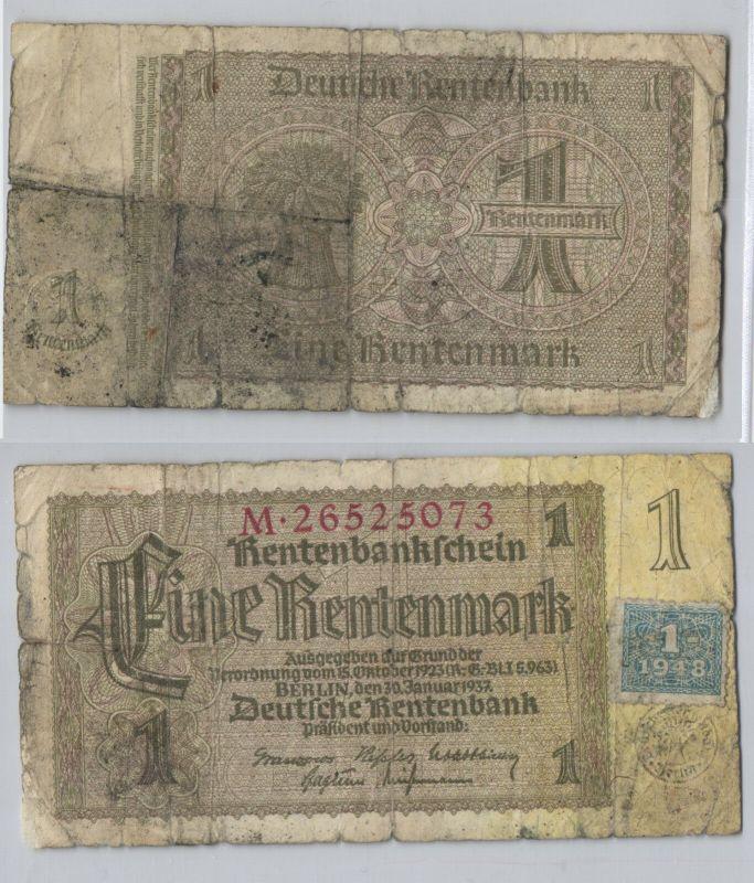 1 Mark Banknote DDR Deutsche Notenbank 1948 Kuponausgabe (129363)
