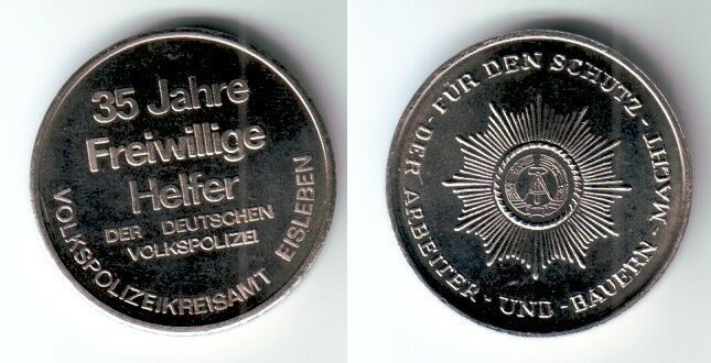 DDR Medaille Freiwilliger Helfer der deutschen Volkspolizei Eisleben (112039)