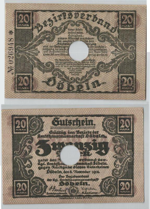 20 Mark Banknote Notgeldschein Döbeln 8. November 1918 (129201)