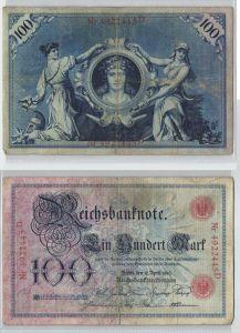 100 Mark Reichsbanknote Deutsches Reich 17.April 1903 (128749)