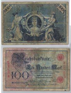 100 Mark Reichsbanknote Deutsches Reich 17.April 1903 (129164)
