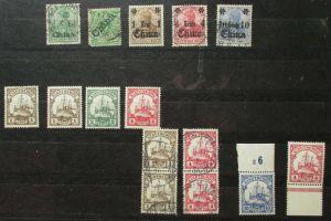Briefmarken dt.Kolonien dt.Post in China, Kiautschou mit 15 Werten (130038)