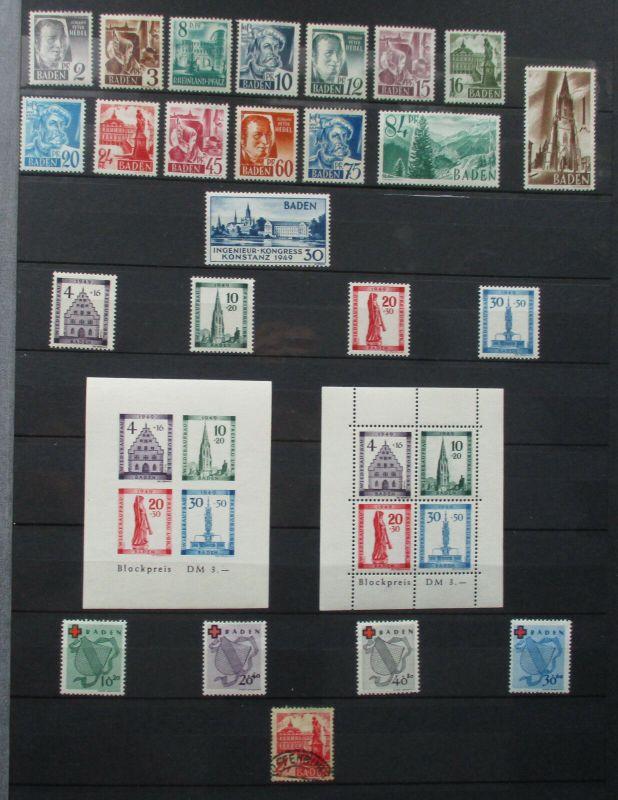 Schöne Briefmarkensammlung alliierte Besatzung ab 1949 (130471)