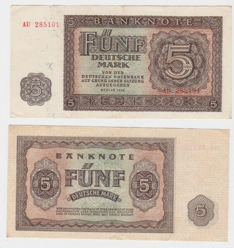 Banknote 5 Mark DDR 1948 Deutsche Notenbank (130600)