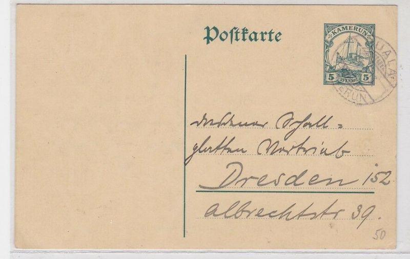 91082 Ganzsachen AK Duala (Kamerun) nach Dresden 1913