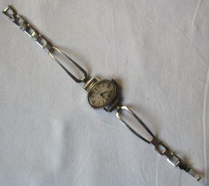 Seltene Damen Armbanduhr GUB Glashütte 17 rubis Made in GDR (129327)