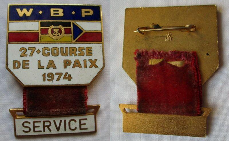 DDR Abzeichen 27. Course de la Paix - Int. Friedensfahrt - Service 1974 (129395)