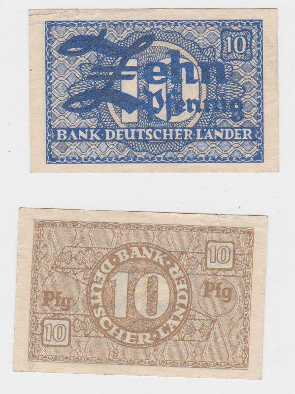 10 Pfennig Banknote Bank Deutscher Länder Rosenberg Nr.251 a (129331)