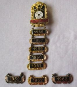 Abzeichen Deutscher Schützenbund Luftgewehr mit 8 Jahresplaketten (102590)