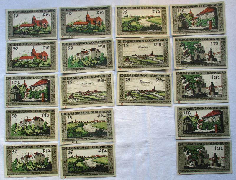 18 Banknoten Notgeld Wildeshausen in Oldenburg 1921 (129410)