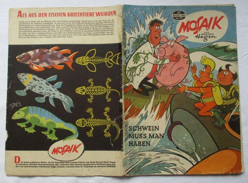 Mosaik von Hannes Hegen Digedag Nummer 57 von 1961 (129294)