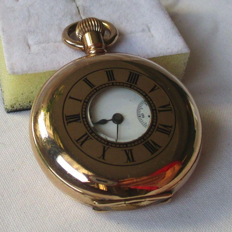 Halbsavonette Taschenuhr American Waltham Watch Co. Waltham Mass. (114016)