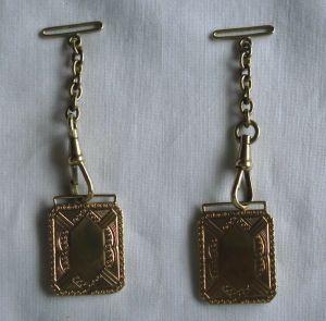 Altes Uhrband 333er Gold für Herren Taschenuhr Länge 7 cm (119610)
