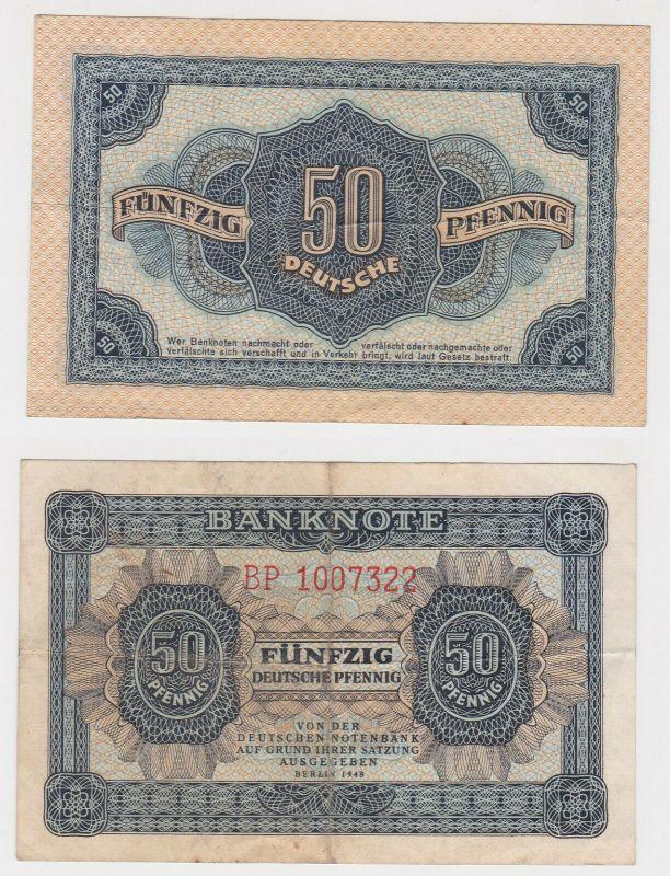 50 Pfennig Banknote DDR Deutsche Notenbank 1948 (130515)
