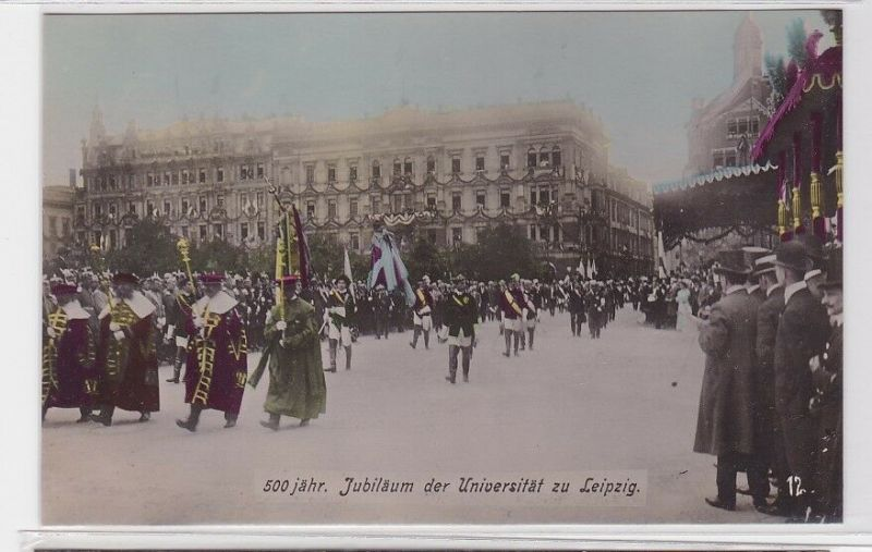 81179 teilkolorierte AK 500 jähriges Jubiläum der Universität Leipzig 1909