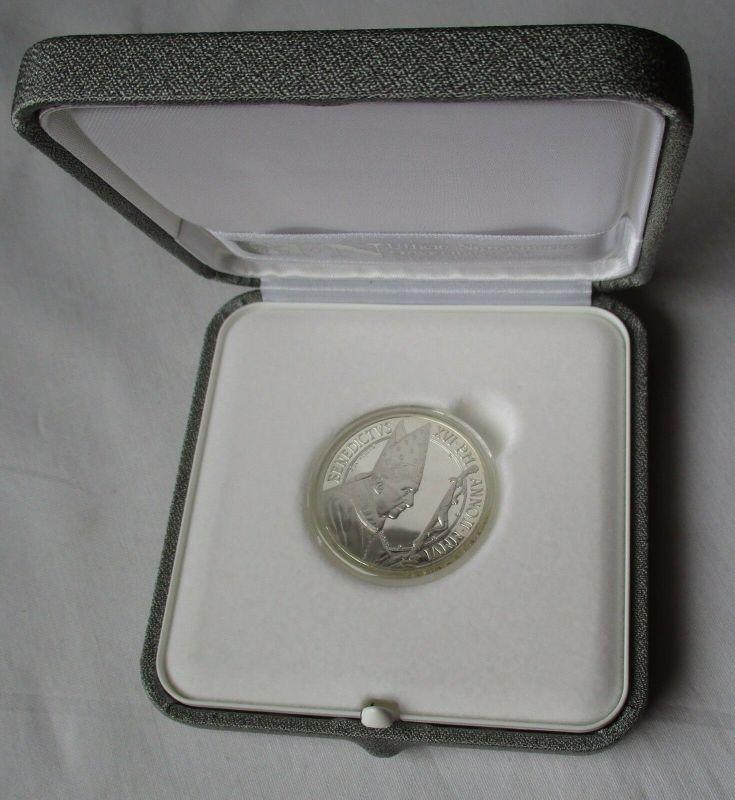 5 Euro Silbermünze Citta del Vatikano Benedikt XVI Weltfriedenstag 2006 (130009)