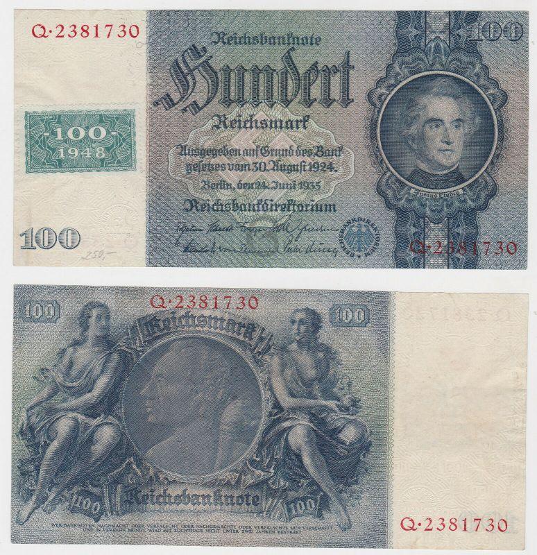 100 Mark Banknote DDR Deutsche Notenbank 1948 Kuponausgabe (130343)