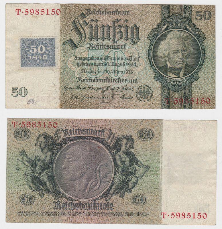 50 Mark Banknote DDR Deutsche Notenbank 1948 Kuponausgabe (130342)