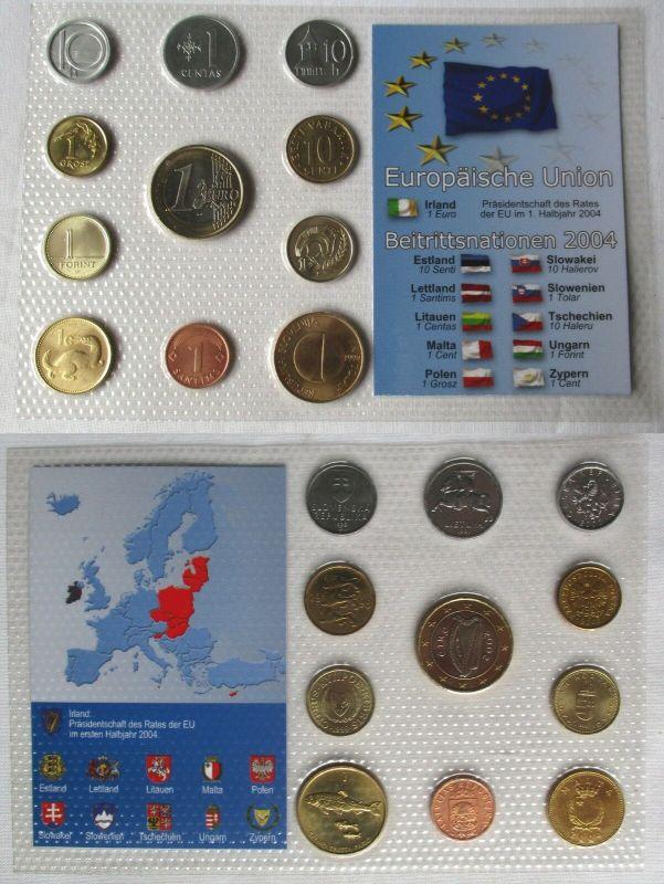 Kursmünzsatz KMS Europäische Union EU 2004 11 Münzen Beitrittsnationen (129137)