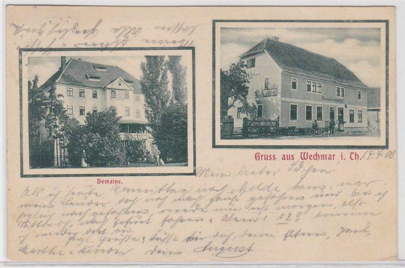 91838 Mehrbild Ak Gruß aus Wechmar in Thüringen Domaine 1909