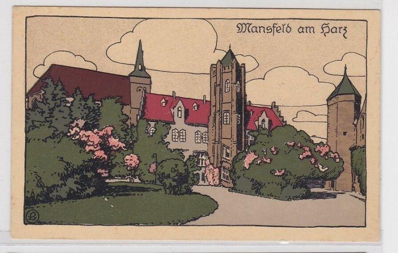 88412 kolorierte Künstler AK Mansfeld am Harz