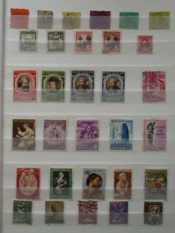 Schöne Briefmarkensammlung Kirchenstaat Vatikanstadt ab etwa 1851 (130308)