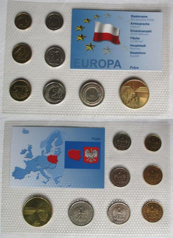 Kursmünzsatz KMS Polen 8 Münzen 1 Grosz - 2 Zloty Blister (128269)