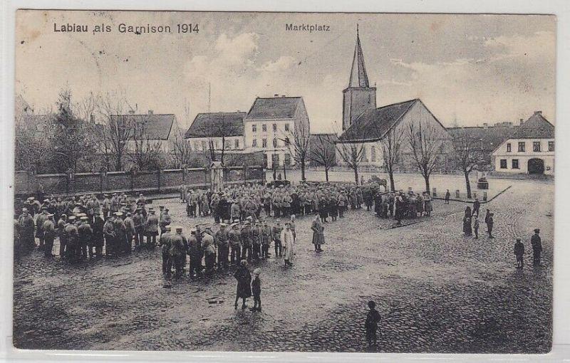 89946 Feldpost AK Labiau als Garnison 1914 - Marktplatz 1915