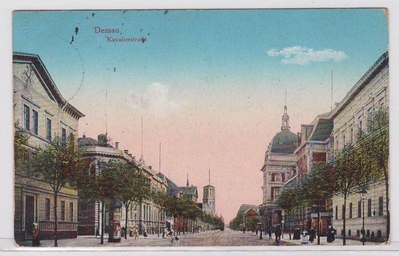 88118 Feldpost Ak Dessau Kavalierstrasse 1916