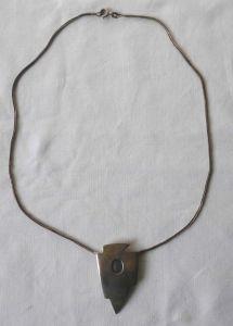 Stilvolle Kette aus 925er Silber mit extravagantem Anhänger + Stein (110454)