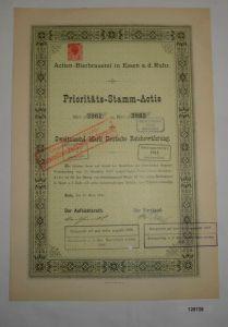 2000 RM Aktie Actien-Bierbrauerei Essen an der Ruhr 15. März 1891 (126728)
