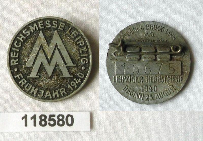 Seltenes Metall Abzeichen Leipziger Frühjahrsmesse 1940 (118580)