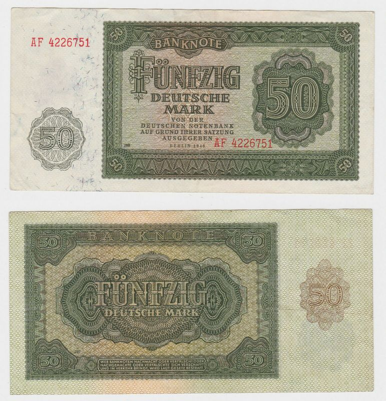 Banknote 50 Mark DDR 1948 Deutsche Notenbank (130320)