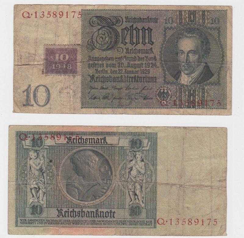 10 Mark Banknote DDR Deutsche Notenbank 1948 Kuponausgabe Ro.Nr.334 (130644)